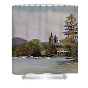 To Mt. Shaw Shower Curtain