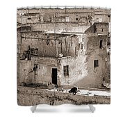 To Praying In Fez - Morocco Shower Curtain
