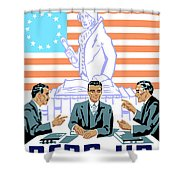 To Speak Up For Democracy Read Up On Democracy Shower Curtain