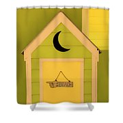 To The Beach - Decorative Outhouse And Sign Shower Curtain