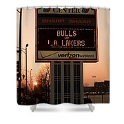 To The Bulls Game Shower Curtain