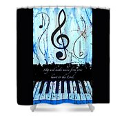 To The Lord - Blue Shower Curtain