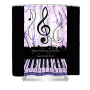 To The Lord - Purple Shower Curtain