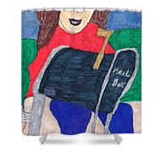 To The Mailbox Shower Curtain