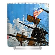 To The Maritime Sky Shower Curtain