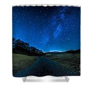 To The Milky Way Shower Curtain
