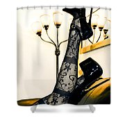 To The Point Shower Curtain