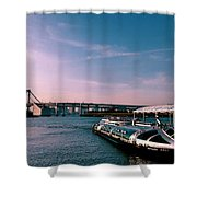 To The Space From Sea Shower Curtain