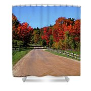 To Where Does The Road Lead Shower Curtain