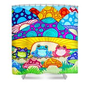 Toads And Toad Stools Shower Curtain