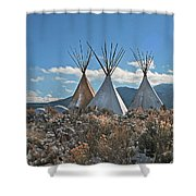 Tee Pees, Taos New Mexico Shower Curtain