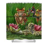 Toasted Frogs Shower Curtain
