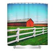 Tobacco Barns Shower Curtain