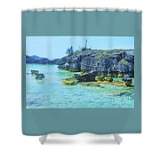 Tobacco Bay, Bermuda # 4 Shower Curtain