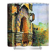 National Tobacco Company Napier Shower Curtain
