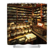 Tobacco Jars Shower Curtain by Yhun Suarez