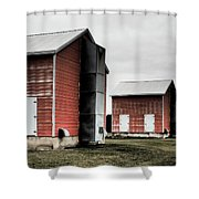Tobacco Sheds Shower Curtain