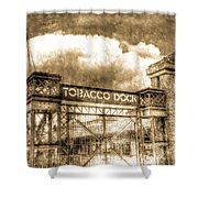 Tobaco Dock London Vintage Shower Curtain