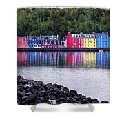 Tobermory Harbor Shower Curtain