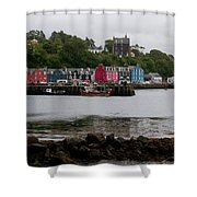 Tobermory Town Cityscape, Isle Of Mull Shower Curtain