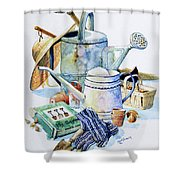 Todays Toil Tomorrows Pleasure I Shower Curtain