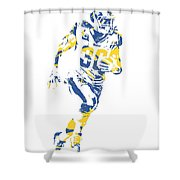 Todd Gurley Los Angeles Rams Pixel Art 30 Shower Curtain