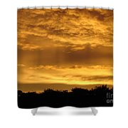 Toffee Sunset 3 Shower Curtain