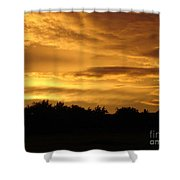 Toffee Sunset Shower Curtain