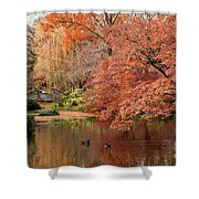 Together In Fall Shower Curtain