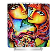 Together In Love Shower Curtain