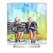 Together Old In Italy 02 Shower Curtain