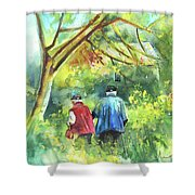 Together Old  In Italy 07 Shower Curtain by Miki De Goodaboom