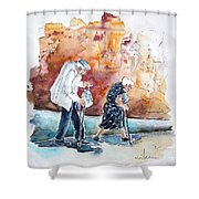 Together Old In Portugal 01 Shower Curtain