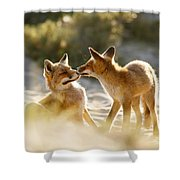 Togetherness - Mother And Kit Moment Shower Curtain