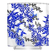 Toile Blue And White Tree Shower Curtain