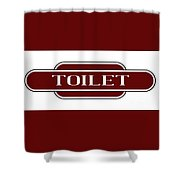 Toilet Station Name Sign Shower Curtain