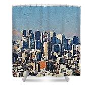 Tokyo City Aerial Shower Curtain