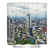Tokyo City View Shower Curtain