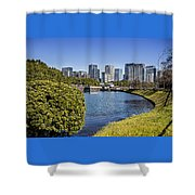 Tokyo From The Palace Shower Curtain