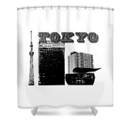 Tokyo Inked Shower Curtain