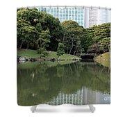 Tokyo Japanese Garden Shower Curtain