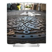 Tokyo Sewer Cover Shower Curtain