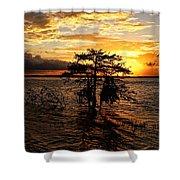 Toledo Bend Sunset Shower Curtain