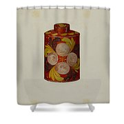 Toleware Tea Caddy Shower Curtain