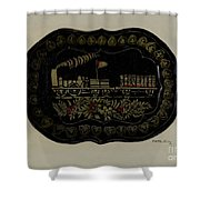Toleware Tin Tray Shower Curtain