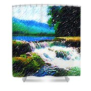 Tolhuaca  Shower Curtain