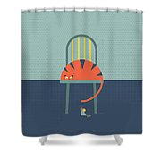 Tom And Jerry Shower Curtain