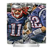 Tom Brady Art 1 Shower Curtain