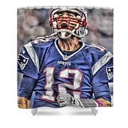 Tom Brady Art 5 Shower Curtain
