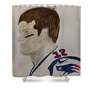 Tom Brady Determined Shower Curtain